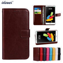 Luxury Flip PU Leather Wallet Mobile phone Cover Case For LG STYLUS 2 with Card Holder