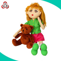 Custom made girl and animals, Plush animal and girl
