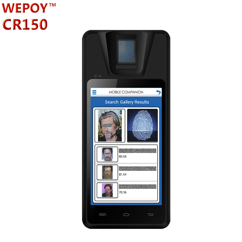 "5"" 3G android biometric fingerprint mobile terminal for Election"