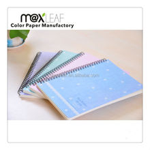 Double wire-o spiral binding notebook