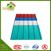 Good performance 2 layer 100% waterproof roof covering plastic tiles