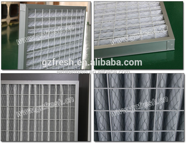 G2 G3 G4 hospital clean room air inlet washable panel prefilter polyester fiber cotton pleated air filter machine