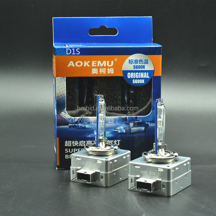 AOKEMU Super bright uv xenon bulb 5500K 6500K D1S D3S H11 H7 xenon car headlight super bright D1 D3 HID lamp emark