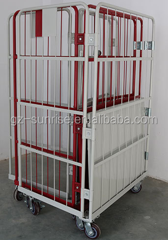Foldable Mobile Rolling Wire Security Roll Cage