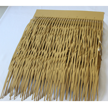 Popular recyclable decorative shingle artificial rolls aluminum fake thatch roof