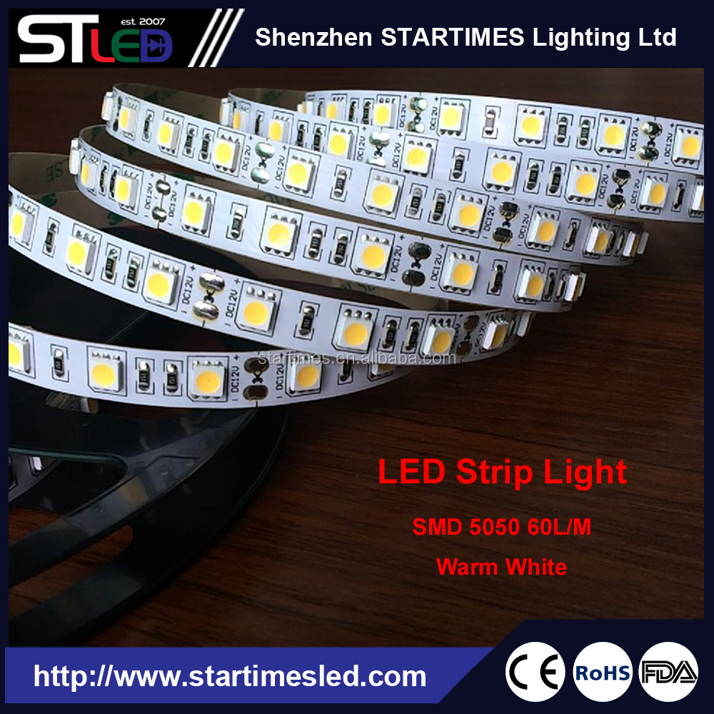 Waterproof 5M 5050 SMD Single color Led Strips Lighting for Kitchen Cabinet, Bedroom, christmas lighting