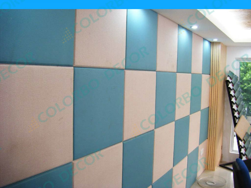 Fabric Wrapped Acoustical Wall Panels Wedge Shaped Panels Soft Board Art  Decoration