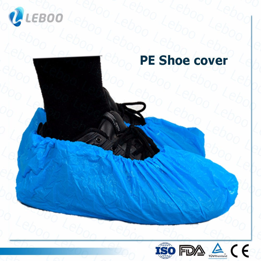 Disposable  CPE shoe cover for hospital