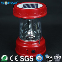 ABS material USB cell phone charger led work lights portable lantern LED rechargeable solar camping light with FM radio