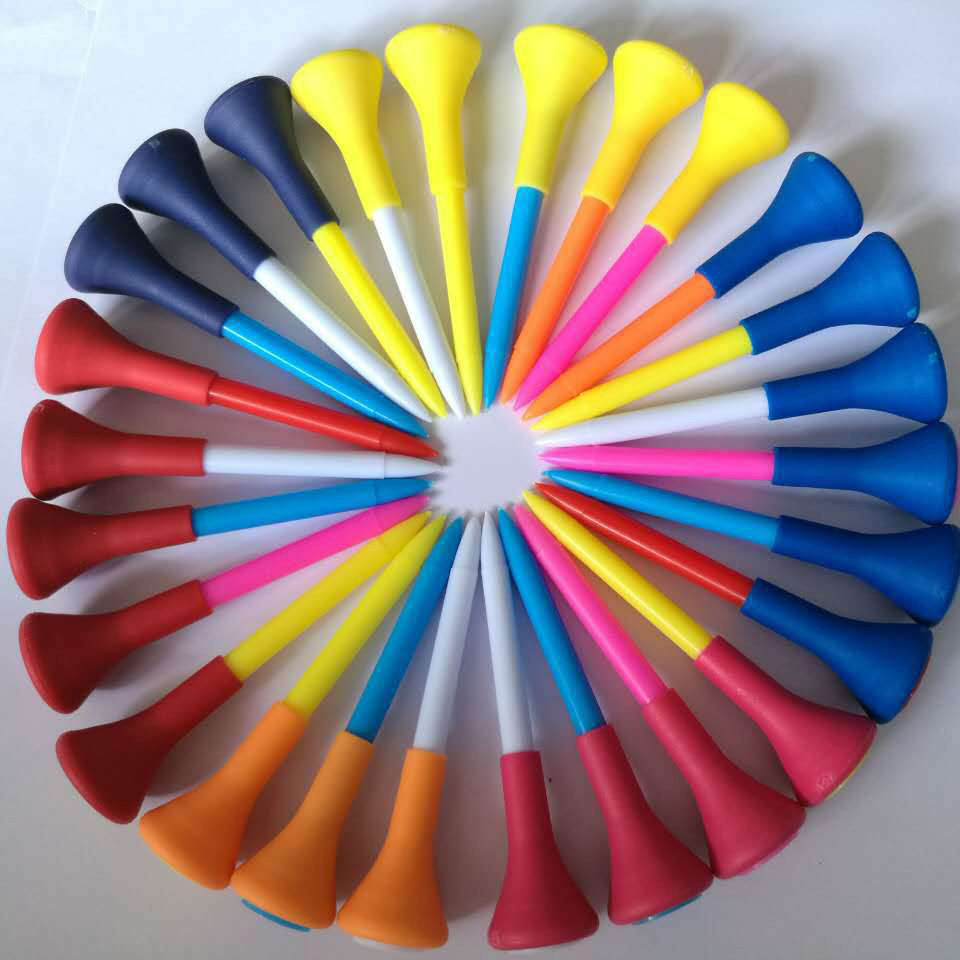 Golf Tee Rubber Top Plastic Golf Tees colored tees