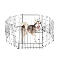 Metal Wire Folding Adjustable Dogs Exercise Playpen