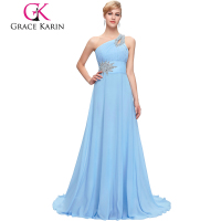 Hot Sale Grace Karin Elegent One Shoulder Chiffon Evening Dresses online shopping CL2949-2
