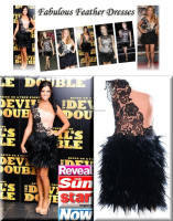 Black Lace Feather Bottom Latest Designs Custom Made Short Mini Cocktail Occasion Party Dress CD053 one shoulder dress pattern