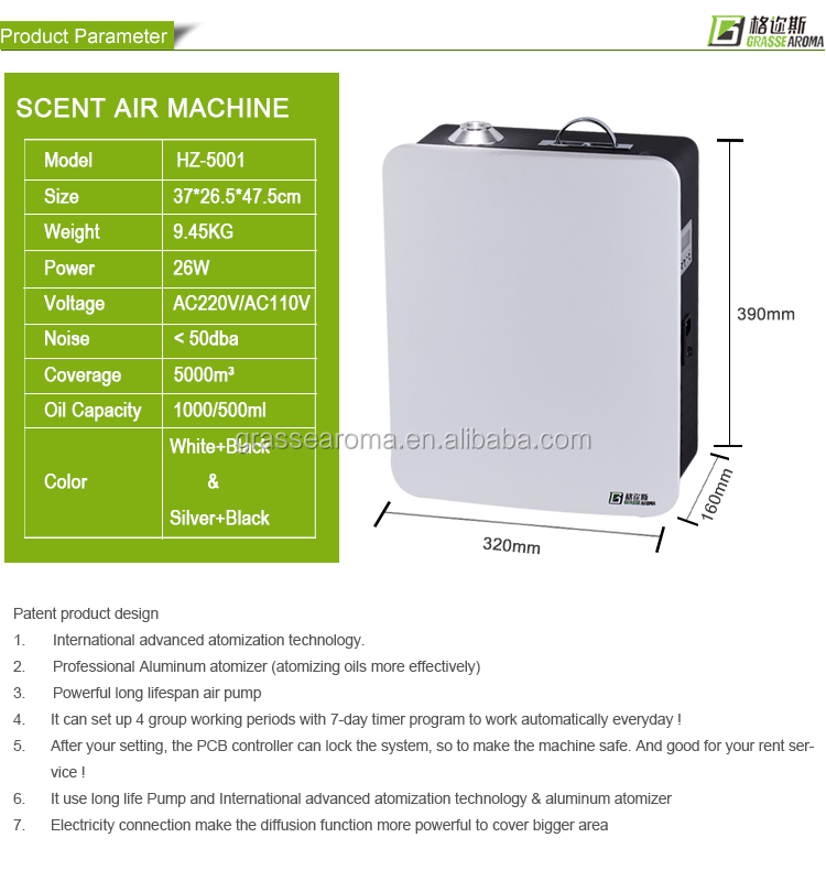 automatic scent fragrance machine HVAC scent diffuser system