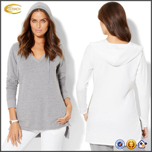 Ecoach 2016 Long Sleeve V-neck Front Pocket 58% Cotton 39% Polyester 3% Spandex Women's Hoodies