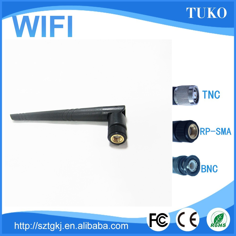 free sample 3DB wifi 2.4ghz rubber duck antennas with RP-SMA male