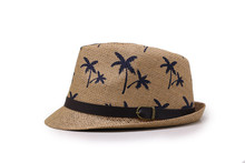 Fashion Summer Straw man and women's Sun Hats Fedora Trilby Gangster Cap Summer Beach Sun Straw Panama Hat with Ribbow Band Sun