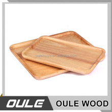 Custom Made High Quality Large Wooden Serving Food Tray For Tea
