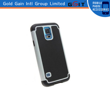 Newest Hard Pc+soft Silicone Hybird Cover Case For Samsung S5,Back Cover Case For Galaxy S5 i9600