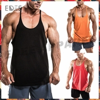 Cotton spandex mens stringer tank top stringer vest blank gym mens stringer singlet wholesale