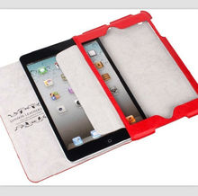 Italian leather/ real leather cover flip case for ipad mini