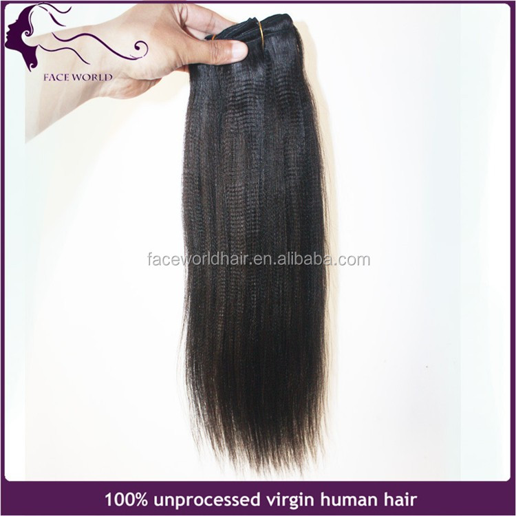 factory pricce yaki remy hair weft human indian hair extension