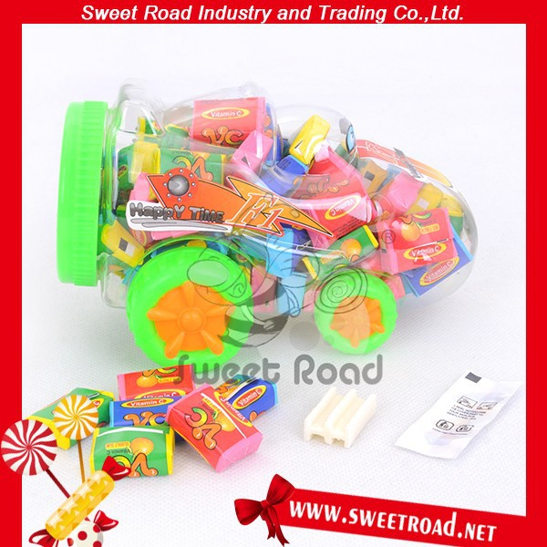 Cartoon Car Tattoo Bubble Gum for kids