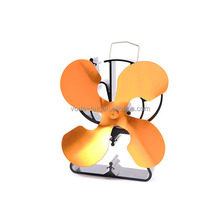 triangled-shaped gold wood stove fan eco fan heat powered stove fan