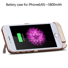5800mAh Power Bank Laptpop Battery Case for iPhone 6S with Stand