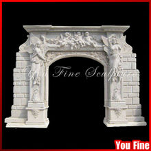 Carving Angel Arched Natural Marble And Granite Door Frame