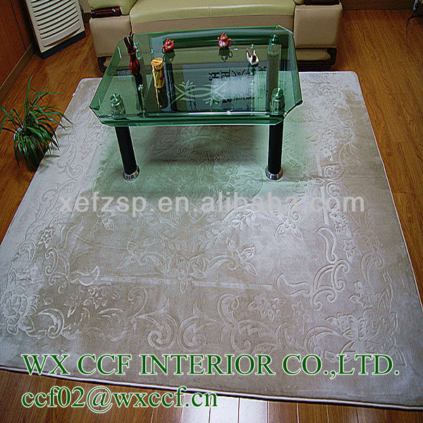luxury decorate embossed acrylic floor covering carpet