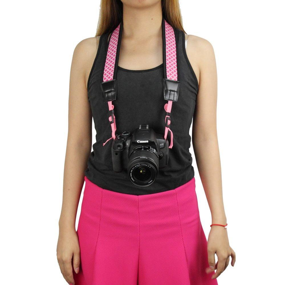 High Grade Neoprene Black Anti-Slip DSLR Camera Neck/Shoulder Strap Belt for various Digital SLR Camera