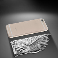 New arrival! Luxury Aluminum Plating PC Plastic Cover 3D Angel Wings mobile cell phone case for iphone 5,5c,5s,6,6 plus