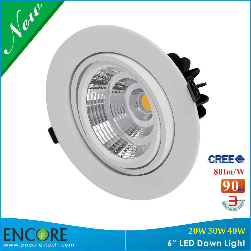 Encore Mini 6 Inch LED Downlight 38W Round Recessed Ceiling Light For Floor Kitchen 2700K-5000K High Brightness Down Light