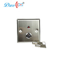 LED light aluminum alloy access control door release exit push switch key button