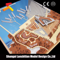Architectural Model of Public Design, miniature architectural scale models of famous building