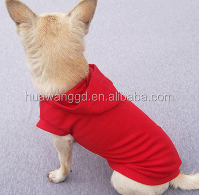 Wholesale pet dogs autumn clothing ,customized blank dogs hoodies with cap