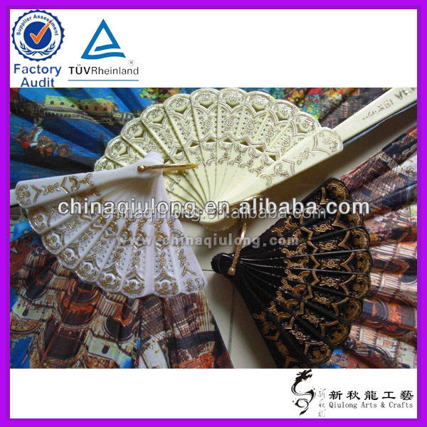 Advertising Spanish Products Plastic Promotional Fan