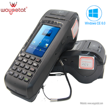 Mobile handled pos terminal with receipt printer with Windows 3G/GPRS/WIFI/1D/2D barcode scanner
