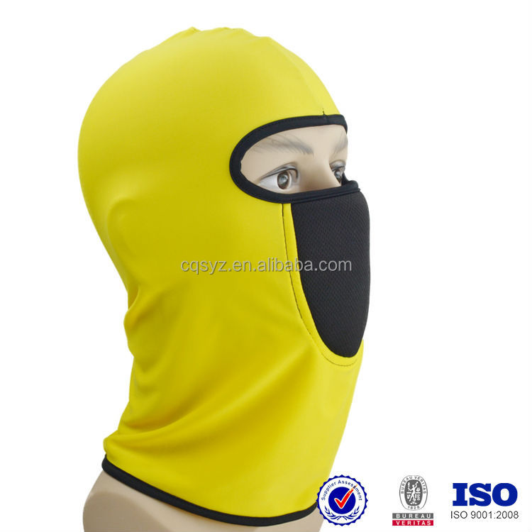 spandex full face cover wind protection air filter hygienic sports ballistic face mask