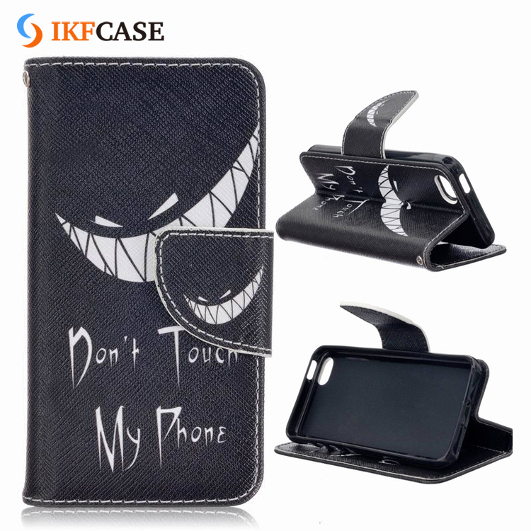 New Brand High Quality Customized DIY Luxury PU Stand Leather Foldable Flip Wallet Case for iPhone 5 5S SE