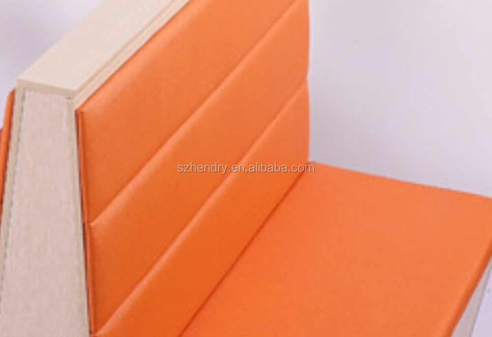 Fast food restaurant leather booth sofa seat