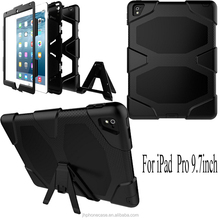 Popular USA market heavy duty bumper protective case for iPad Pro 9.7 tablet cover accessory