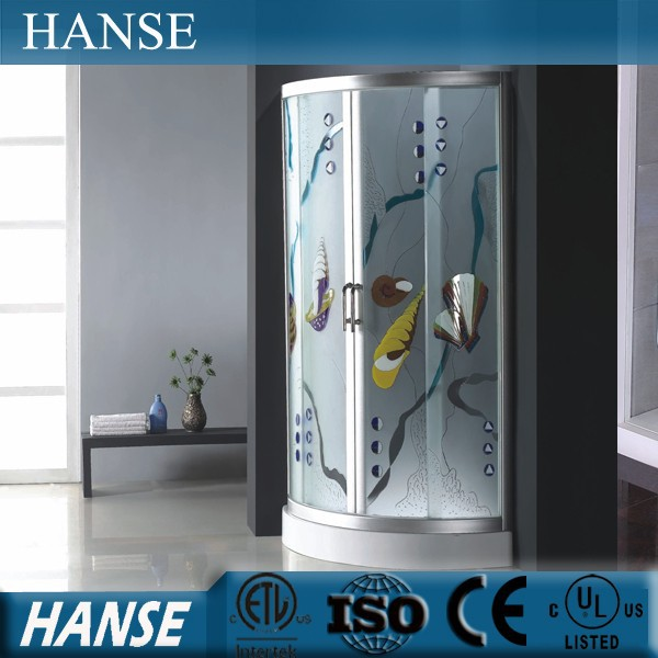 HS-SR866 aluminium profiles colorful cheap toughened glass shower enclosure