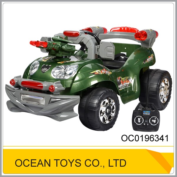 Classic green big plastic toy remote control ride on car OC0196341