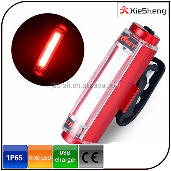 Super Bright 3W Aluminium COB Bike Light and Colorful LED Rear Light USB Rechargeable Bicycle Light
