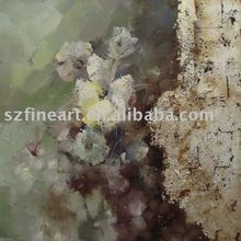Abstract Flower Handmade Oil Painting Of Modern Art For European Taste