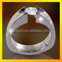 attractive fashion hot selling stainless steel men ring latest wedding ring designs