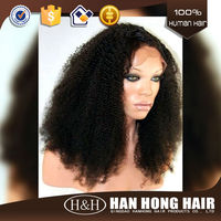 Shandong qingdao hot selling human hair lace wig , afro full lace wigs for black men