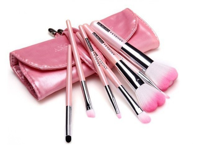 Angels and Demons 7pcs  Professional Makeup Brushes set   Natural Cosmetic Brush tools free shipping